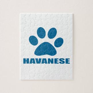 HAVANESE DOG DESIGNS JIGSAW PUZZLE