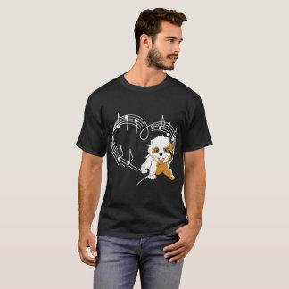 Havanese Dog Love Rhythm Heartbeats Tshirt