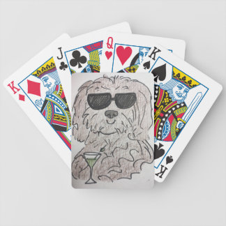 Havanese dog martini bicycle playing cards
