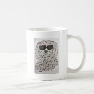 Havanese dog martini coffee mug
