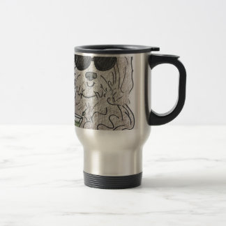 Havanese dog martini travel mug
