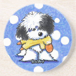 Havanese Duck Lover Sandstone Coaster