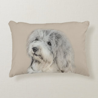 Havanese (Gold Sable) Painting - Original Dog Art Decorative Cushion