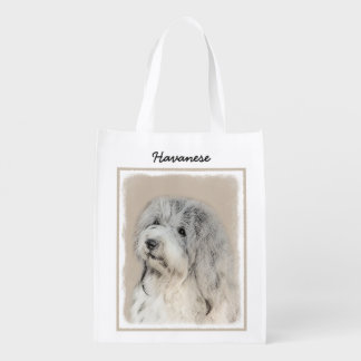 Havanese (Gold Sable) Reusable Grocery Bag