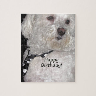 Havanese Happy Birthday Jigsaw Puzzle