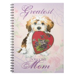 Havanese Heart Mom Spiral Notebooks
