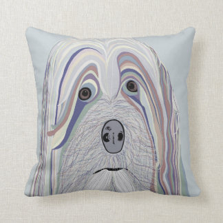 Havanese in Denim Colors Cushion
