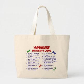 HAVANESE Property Laws 2 Large Tote Bag