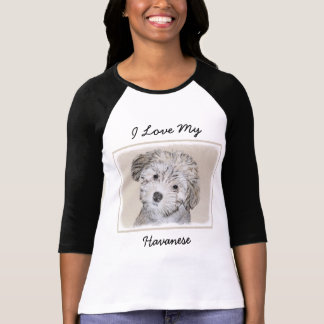 Havanese Puppy Painting - Cute Original Dog Art T-Shirt