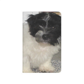 Havanese Rescue Puppy Black and White Journal