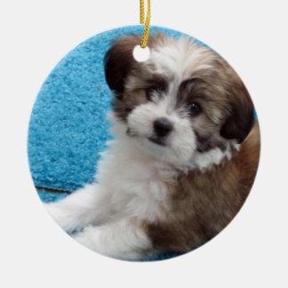 Havanese Rescue Puppy Ceramic Ornament