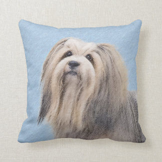 Havanese (Silver) Painting - Cute Original Dog Art Cushion