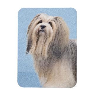 Havanese (Silver) Painting - Cute Original Dog Art Magnet