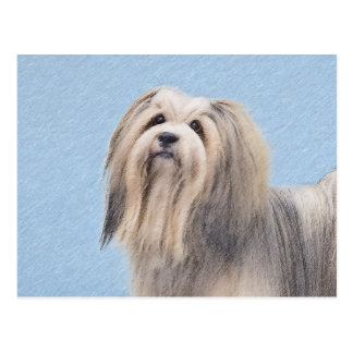Havanese (Silver) Painting - Cute Original Dog Art Postcard