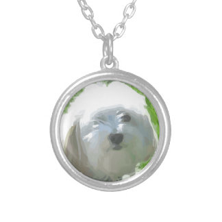 Havanese Silver Plated Necklace