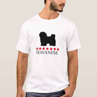 Havanese T-shirt with Red Stars