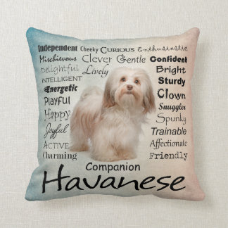 Havanese Traits Pillow