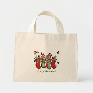 Have A Beary Merry Christmas!-Designer Tiny Tote Bags