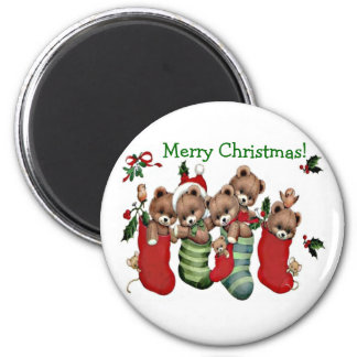 Have A Beary Merry Christmas! - Magnet 2 Inch Round Magnet