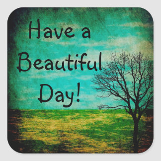 Have a Beautiful  Day Whimsical Tree Sticker