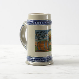 Have a Beer! Write Later! Vintage Beer Stein