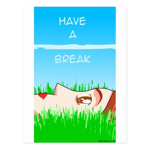 have a break! postcards