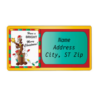 Have a Bright Merry Christmas Shipping Label