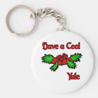 have a cool Yule Basic Round Button Key Ring