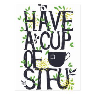 Have a cup of STU Postcard