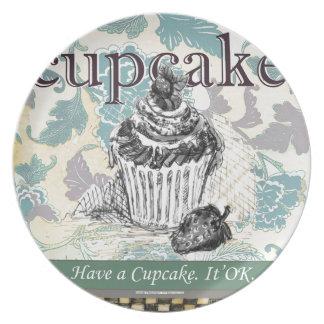 Have a Cupcake. It's OK. - Melamine Plate (3)