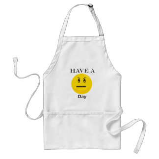 Have a day yellow smiley apron