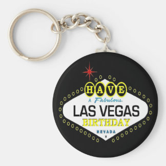Have A Fabulous Las Vegas Birthday  Sticker Basic Round Button Key Ring