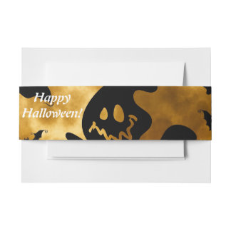 Have a Ghostly Halloween! Invitation Belly Band
