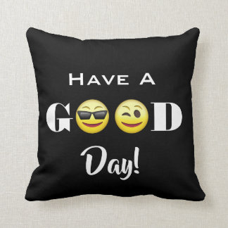 """Have A Good Day"" Emojis Cushion"