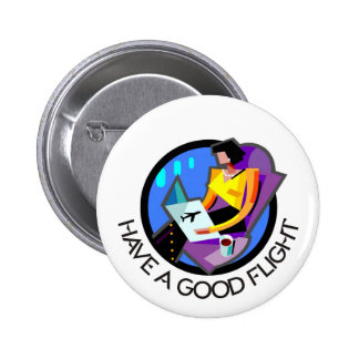 Have a good flight, bon voyage! Flying passenger Buttons