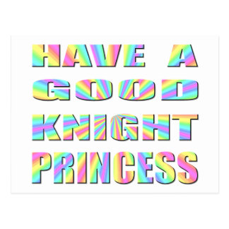 Have A Good Knight Princess Postcard