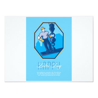Have a Great Labor Day Retro Greeting Card 17 Cm X 22 Cm Invitation Card