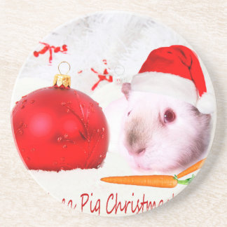 Have a Guinea Pig Christmas Coasters