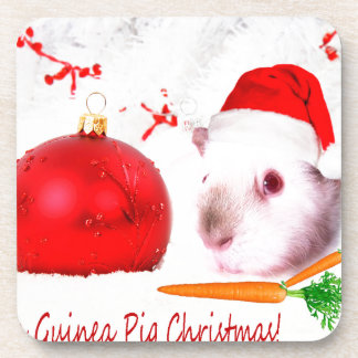 Have a Guinea Pig Christmas Drink Coaster