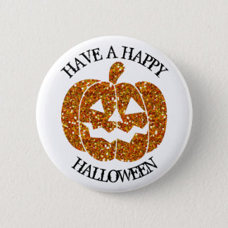 Have a Happy Halloween Pumpkin Button