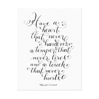 Have a heart inspirational quote typography canvas print