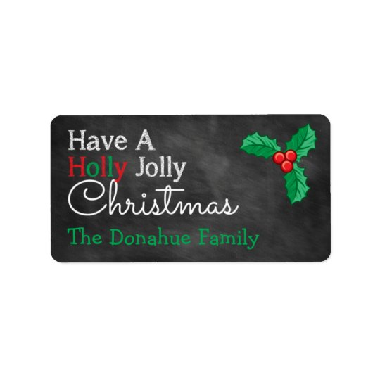 Have A Holly Jolly Christmas Chalkboard Gift Tags