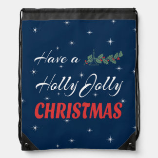 Have a Holly Jolly Christmas Drawstring Bag