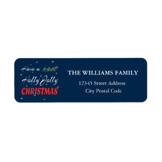 Have a Holly Jolly Christmas Return Address Label