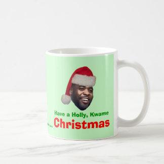 Have a Holly, Kwame, Christmas Coffee Mug