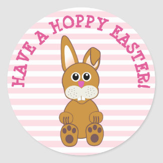 Have a Hoppy Easter Bunny Rabbit Stickers