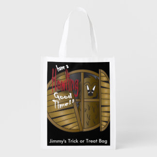 Have a Howling Good Time Reusable Grocery Bags