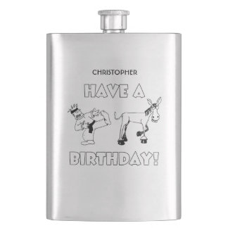 Have A KickAss Birthday Cool Funny Hip Flask