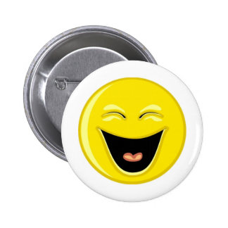 Have a Laugh Smiley Face 6 Cm Round Badge