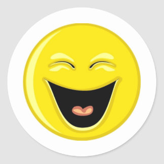 Have a Laugh Smiley Face Classic Round Sticker